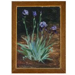 Painting Harald Slott-møller, Blue Iris