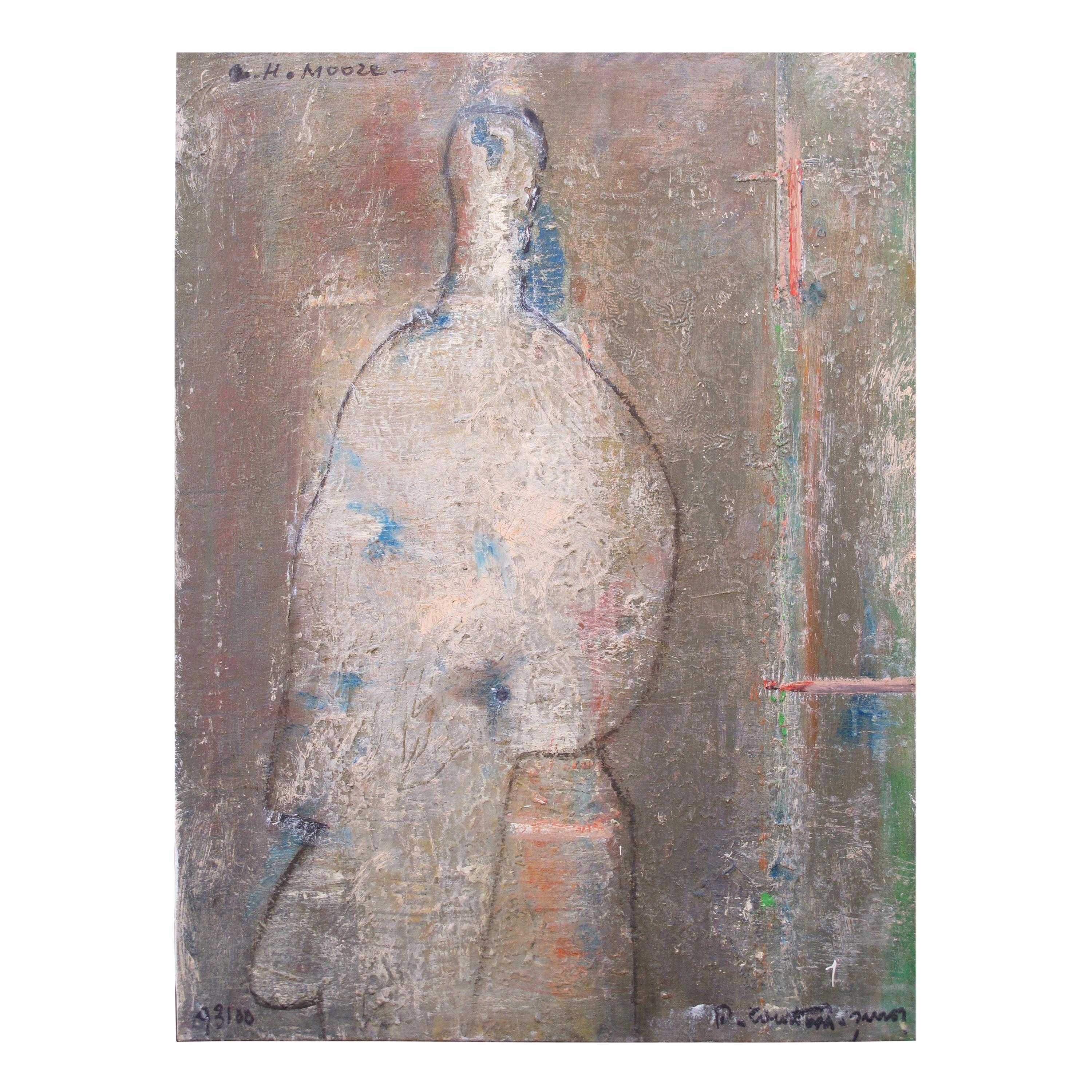 """Painting """"Henry Moore"""" by Pierre Courtens"""