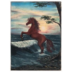 """Painting """"Horse on the seashore"""""""
