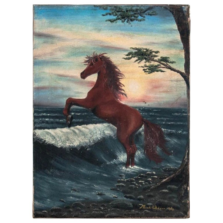 """Painting """"Horse on the seashore"""" For Sale"""