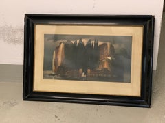 """Painting Isle of the Dead , Arnold Bocklin """"Toteninsel"""" by Fr. Vogel, Signed"""