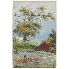 Painting, Johan Fredrik Isberg Mariedal, Sweden, 1880s