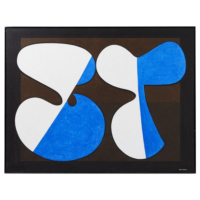 Painting 'Komposition III' by Tore Nyberg, Sweden, 1960s For Sale