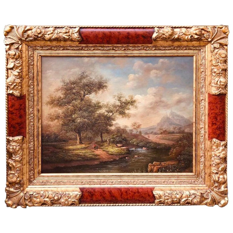 """Painting """"Making For the Tryel"""" William Fleming Vallance, Oil on Canvas, 1880 For Sale"""