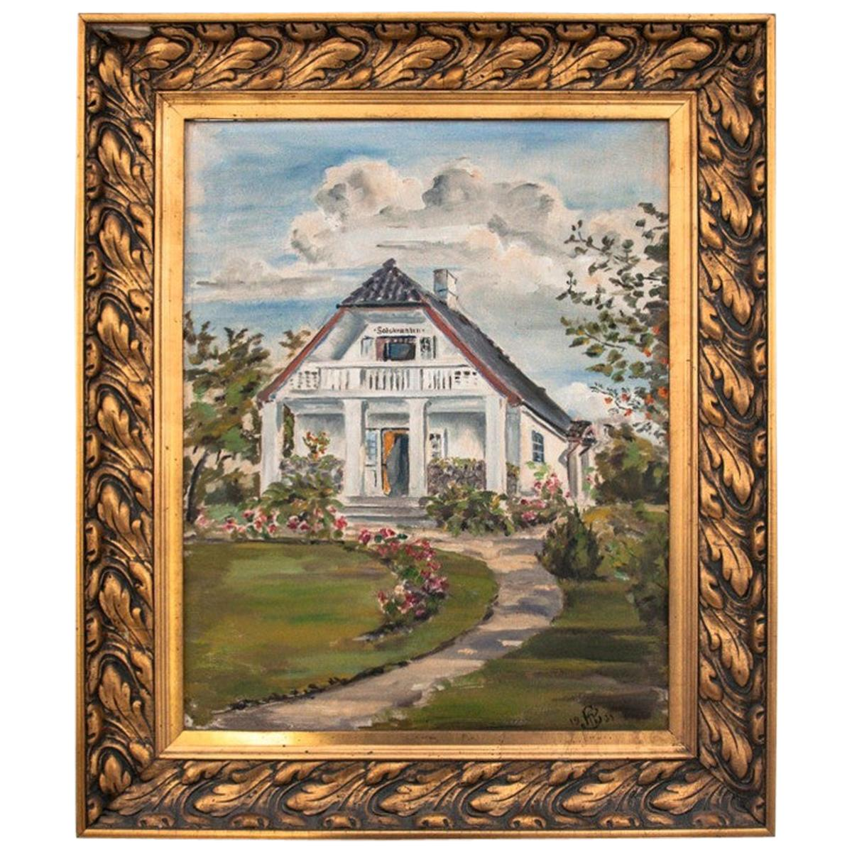 """Painting """"Manor house"""""""