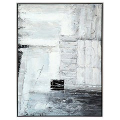 Painting, Modern Art, Grey, Black and White, Abstract Design, Contemporary Art