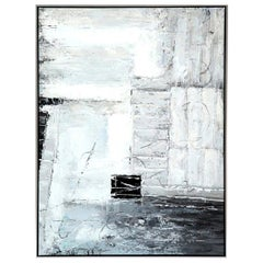 Painting, Modern Art, Grey, Black, Grey and White, Contemporary Art, Floating