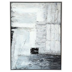 Painting, Modern, Grey, Black and White, Abstract Design
