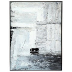 Painting, Modern, Grey, Black and White, Abstract Design, Modern Art