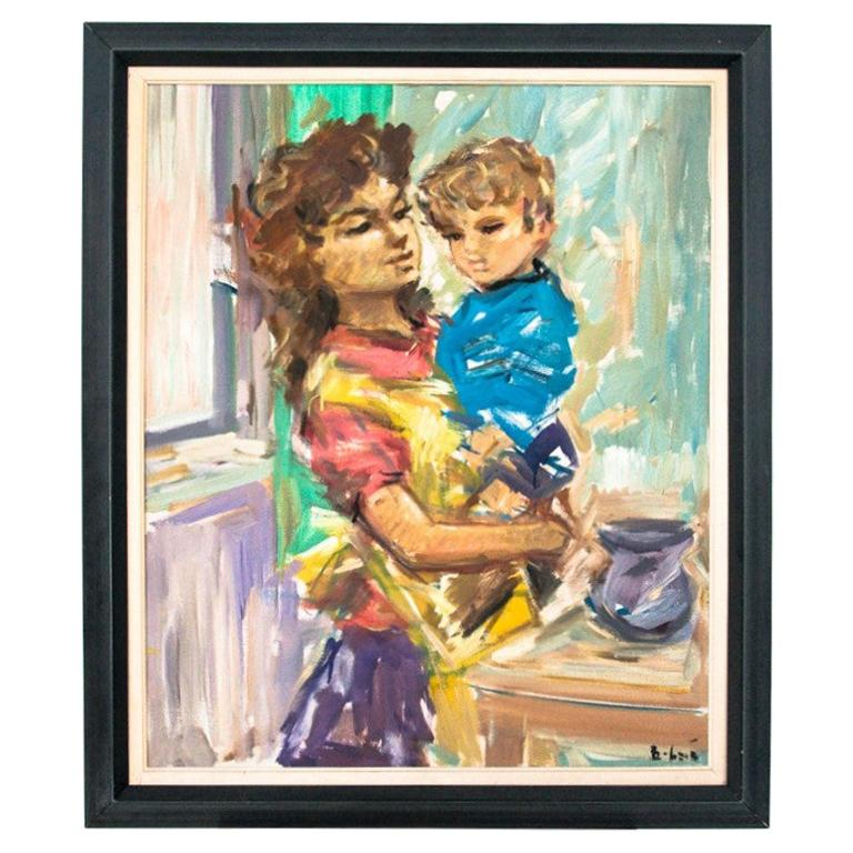 "Painting ""Mother with a child"""
