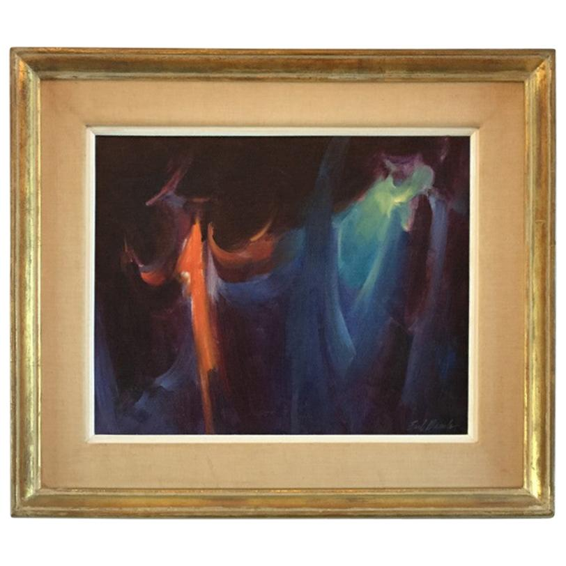 """Painting """"Motion"""" by Earl Daniels 'Midcentury 1960s' American Painter"""