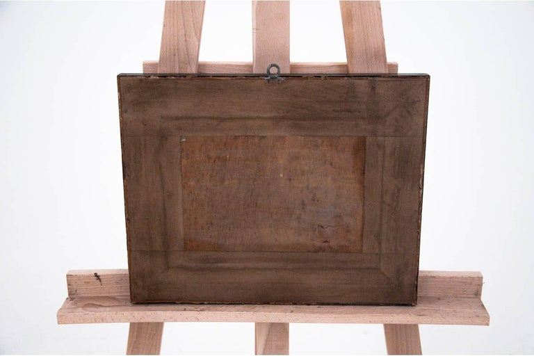 Dimensions:  Frame: Height 26 cm / width 33 cm  Painting: Height 15 cm / width 22 cm.