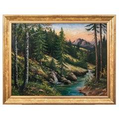 "Painting ""Mountain Stream"", Poland, 1950s"