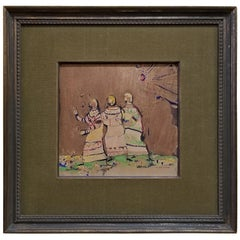 Painting of 3 Figures by Margaret Putman
