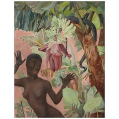 Painting of a Black Woman 'Eve' by Winifred Elizabeth Beatrice Hardman