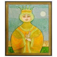 Painting of a Queen by John Nartker Midcentury