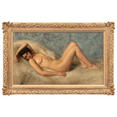 Painting of a Reclining Female Nude by Paul Sieffert 'French', Oil on Canvas
