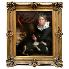 Painting of a Young Boy with His Dog after Henry Raeburn