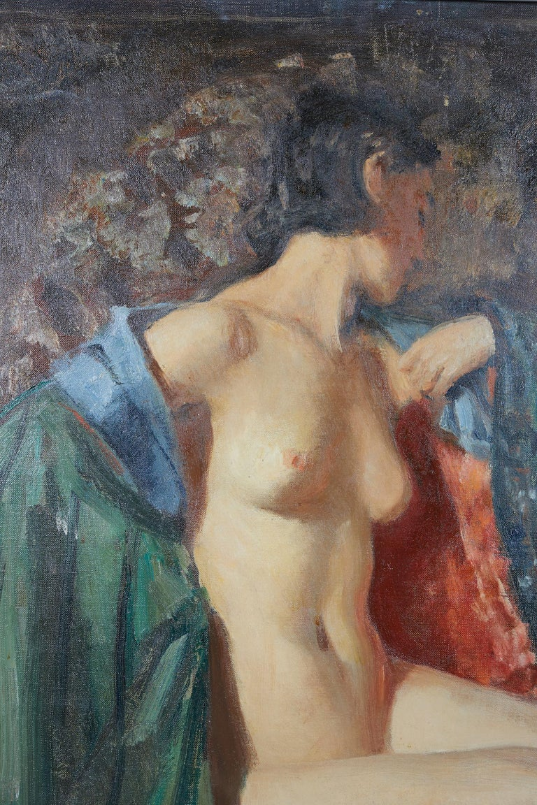 Canadian Painting of an Appeasing Nude by Adam Sherriff Scott For Sale
