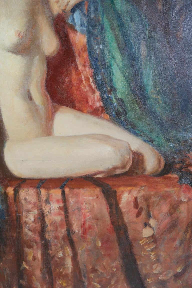 Painting of an Appeasing Nude by Adam Sherriff Scott In Good Condition For Sale In Montreal, QC