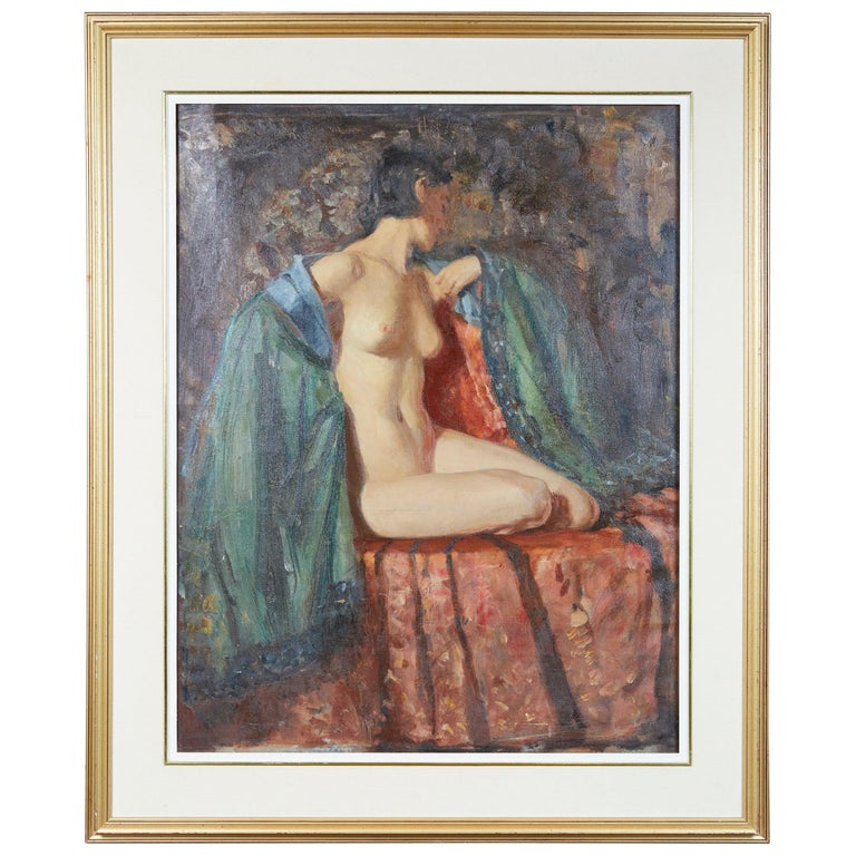 Painting of an Appeasing Nude by Adam Sherriff Scott For Sale