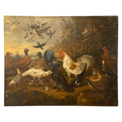 Painting of Birds, Attributed to Marmaduke Craddock