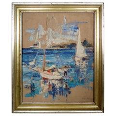 Painting of Boat Scene