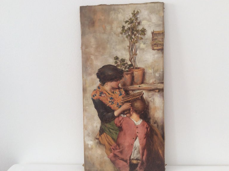 Painting of Mother and Child For Sale 1