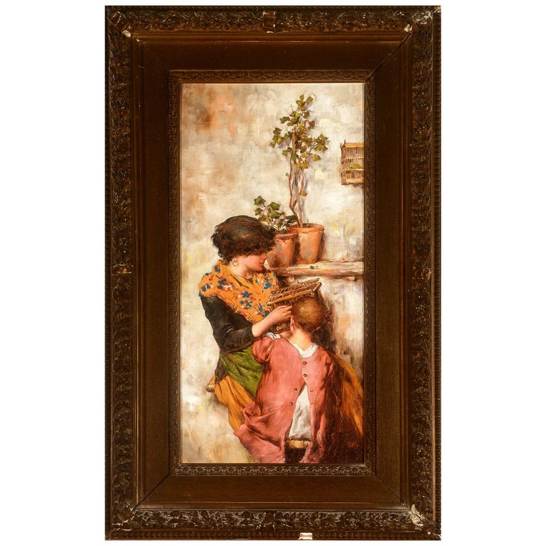 Painting of Mother and Child For Sale