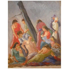 Painting of Nude and Seminude Figures by Sylvia Bernstein, 1939