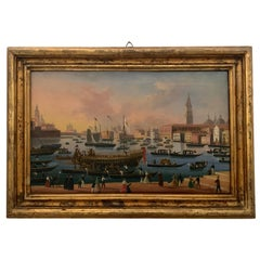 Painting of Venice 1800 Oil on Canvas