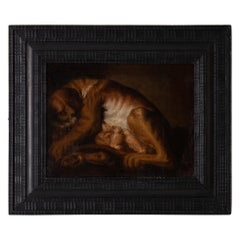 Painting Oil on Canvas Baroque Period Original Black Baroque Frame