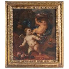 Painting, Oil on Canvas, Flemish, 17th Century, Representative Three Loves