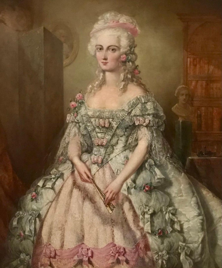 Painting, Oil on Canvas of Aristocracy, by Johann Heinrich Tischbein For Sale 5