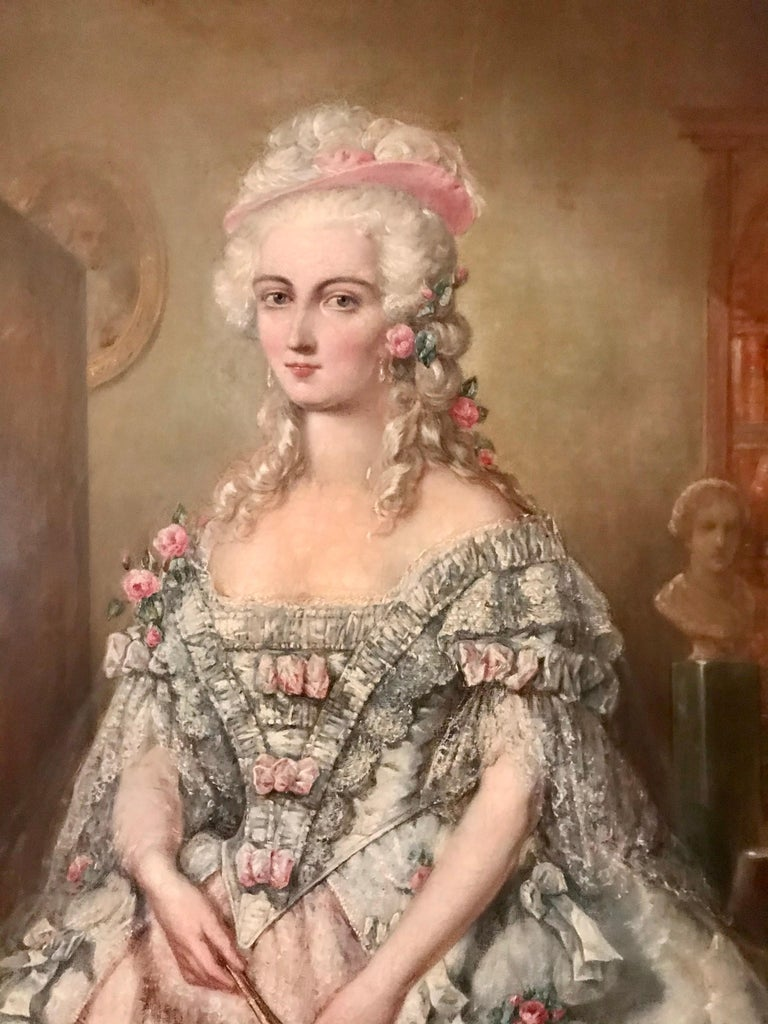 German Painting, Oil on Canvas of Aristocracy, by Johann Heinrich Tischbein For Sale