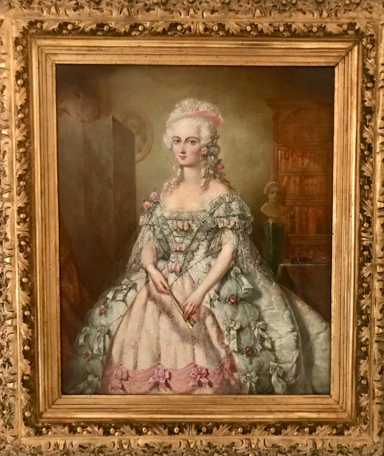 Painted Painting, Oil on Canvas of Aristocracy, by Johann Heinrich Tischbein For Sale