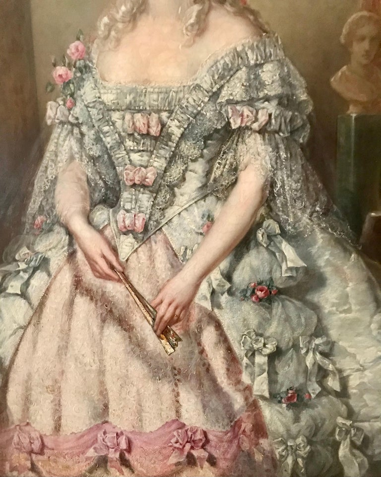 Painting, Oil on Canvas of Aristocracy, by Johann Heinrich Tischbein In Good Condition For Sale In Miami, FL