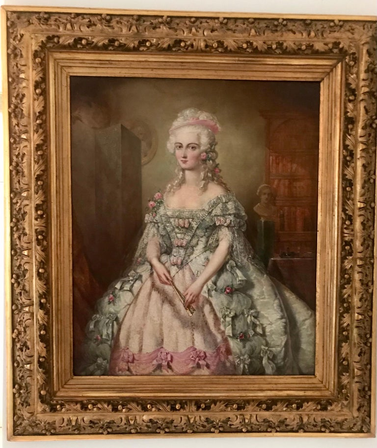 Painting, Oil on Canvas of Aristocracy, by Johann Heinrich Tischbein For Sale 2
