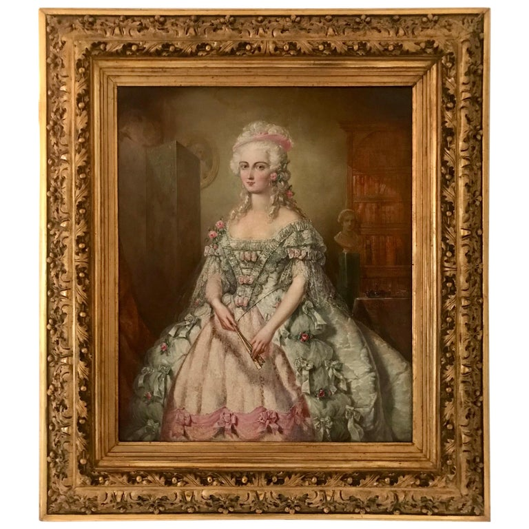 Painting, Oil on Canvas of Aristocracy, by Johann Heinrich Tischbein For Sale