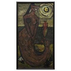 "Painting on Hardboard ""Mermaid"" by V. Petegemutt"