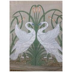 Painting on Silk, Art Nouveau