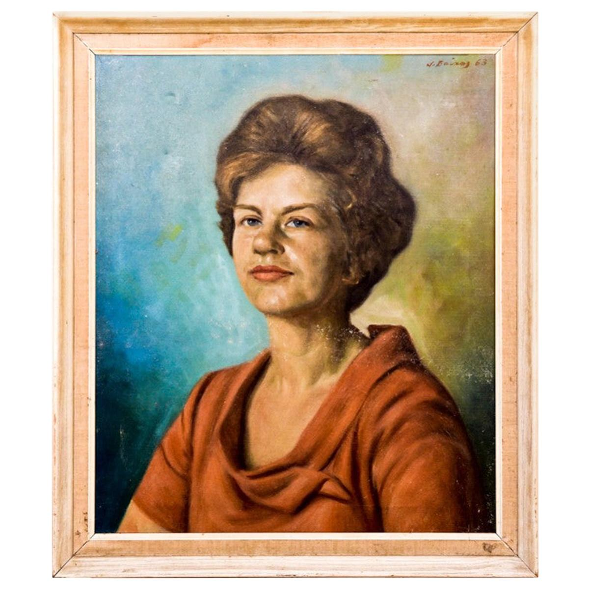 "Painting ""Portrait of a Woman"", Spain, 1960s"