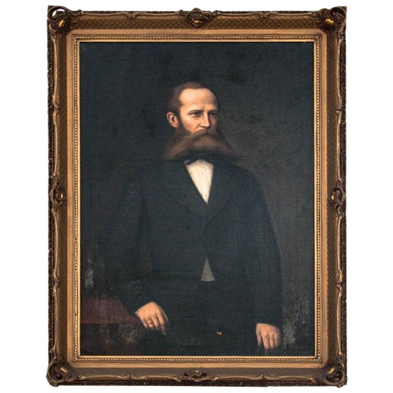 """Painting """"Portrait of an Ancestor"""", 19th Century For Sale"""