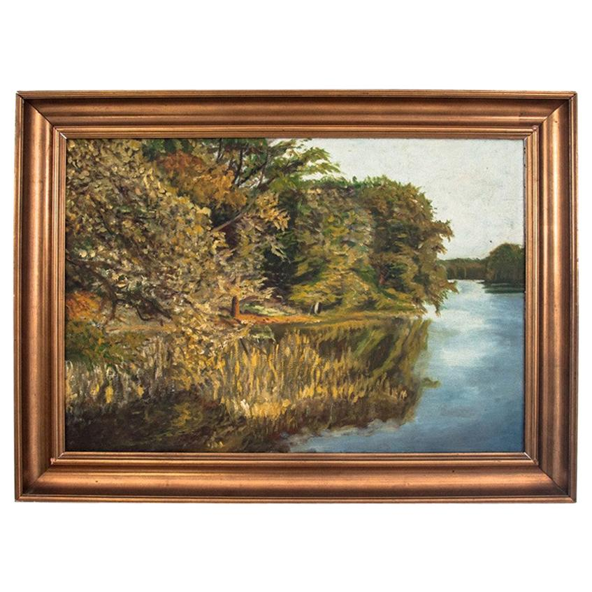 """Painting """"Reflection in the river"""""""