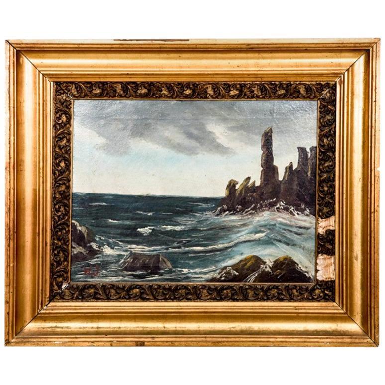 "Painting ""Rocks at the Sea"""