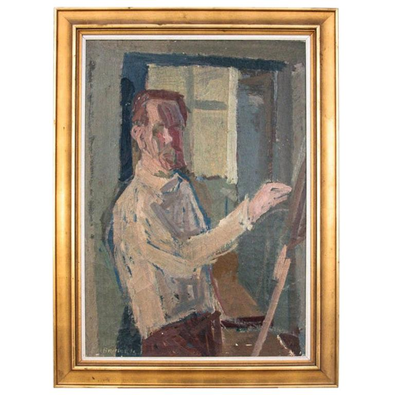 """Painting """"Self-portrait of the painter""""."""