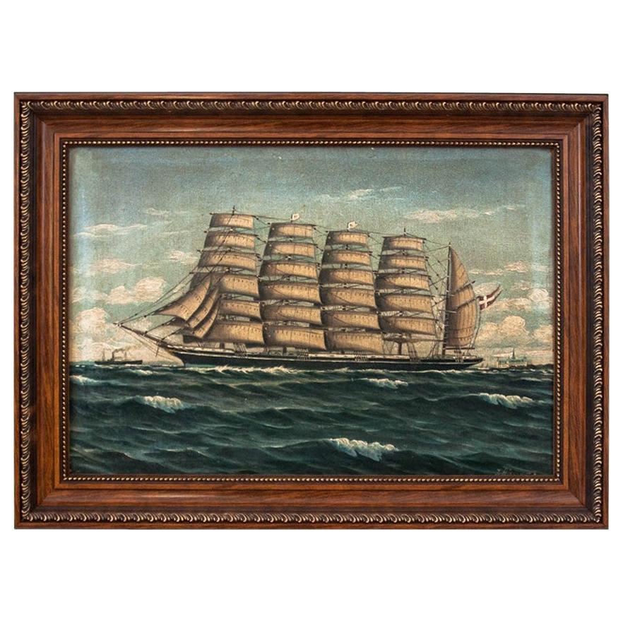 """Painting """"Ship at Sea"""""""