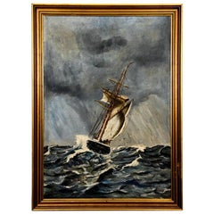 "Painting ""Ship during a storm"""