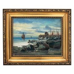 """Painting """"Ships at sea"""""""