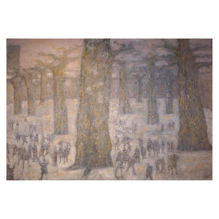 "Painting ""The Break"" 1963, by René Jean Clot For Sale"
